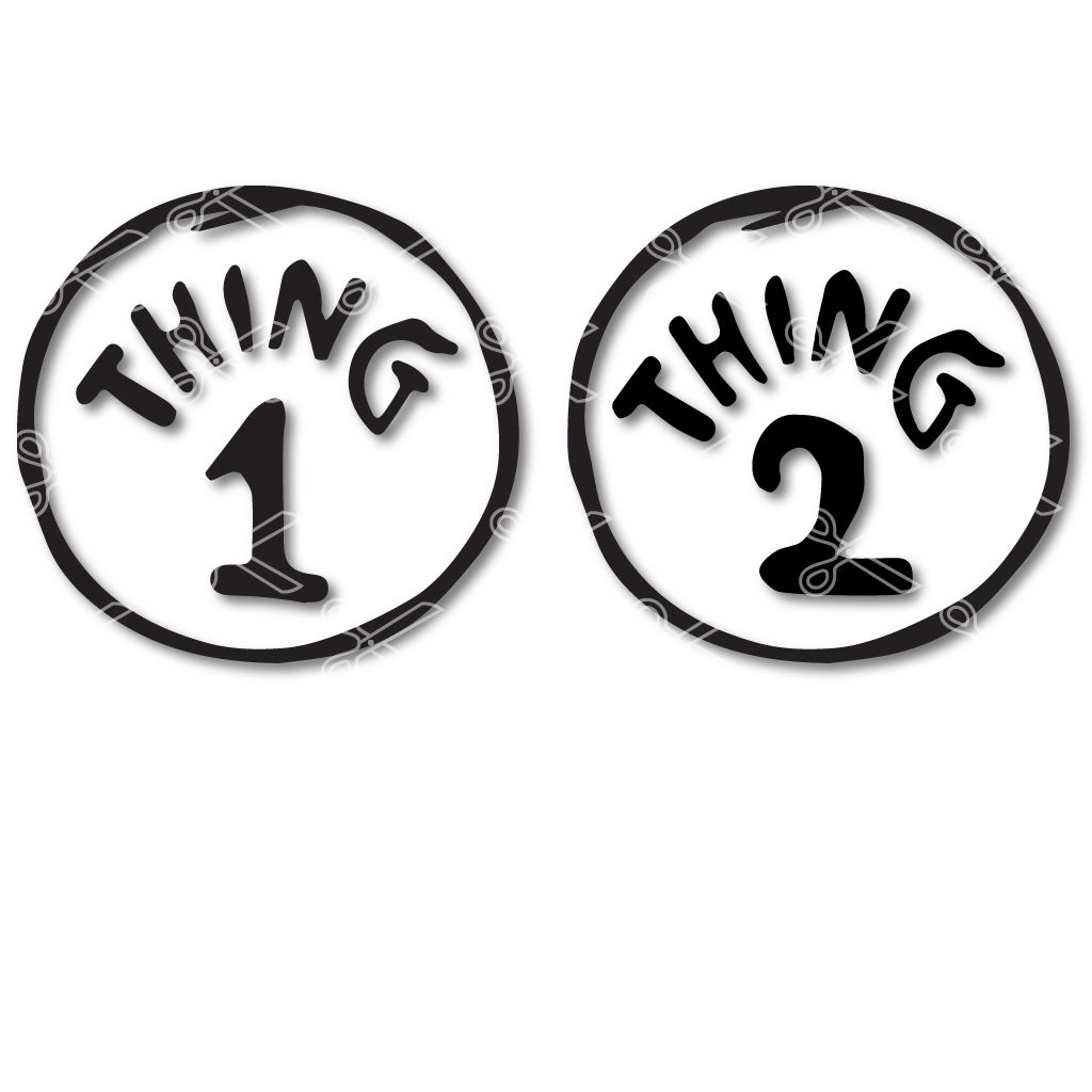 Thing 1 Svg