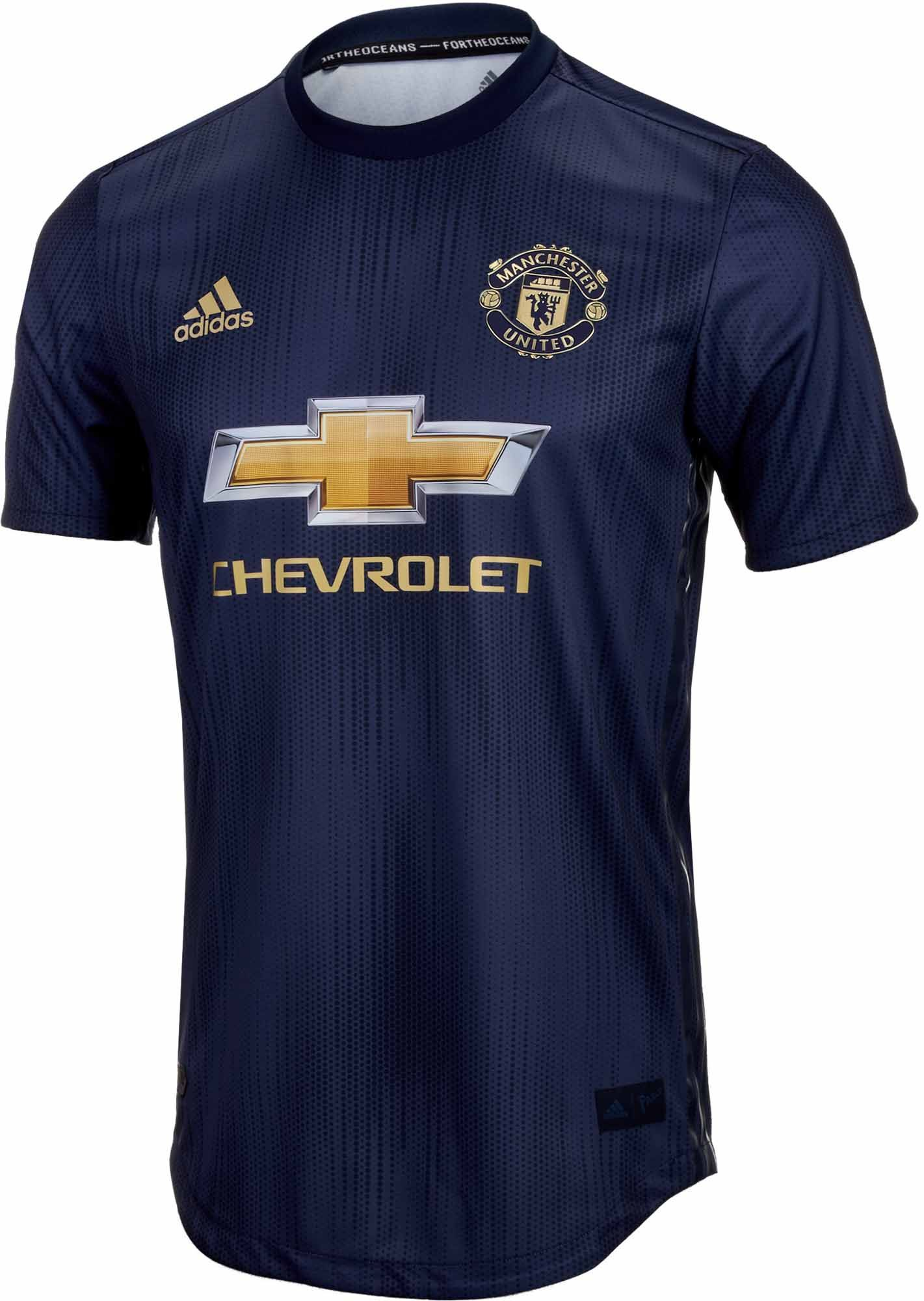Adidas Manchester United 3rd Authentic Jersey 2018 19 Soccerpro Manchester United Cycling Jersey Design Manchester United Away Kit
