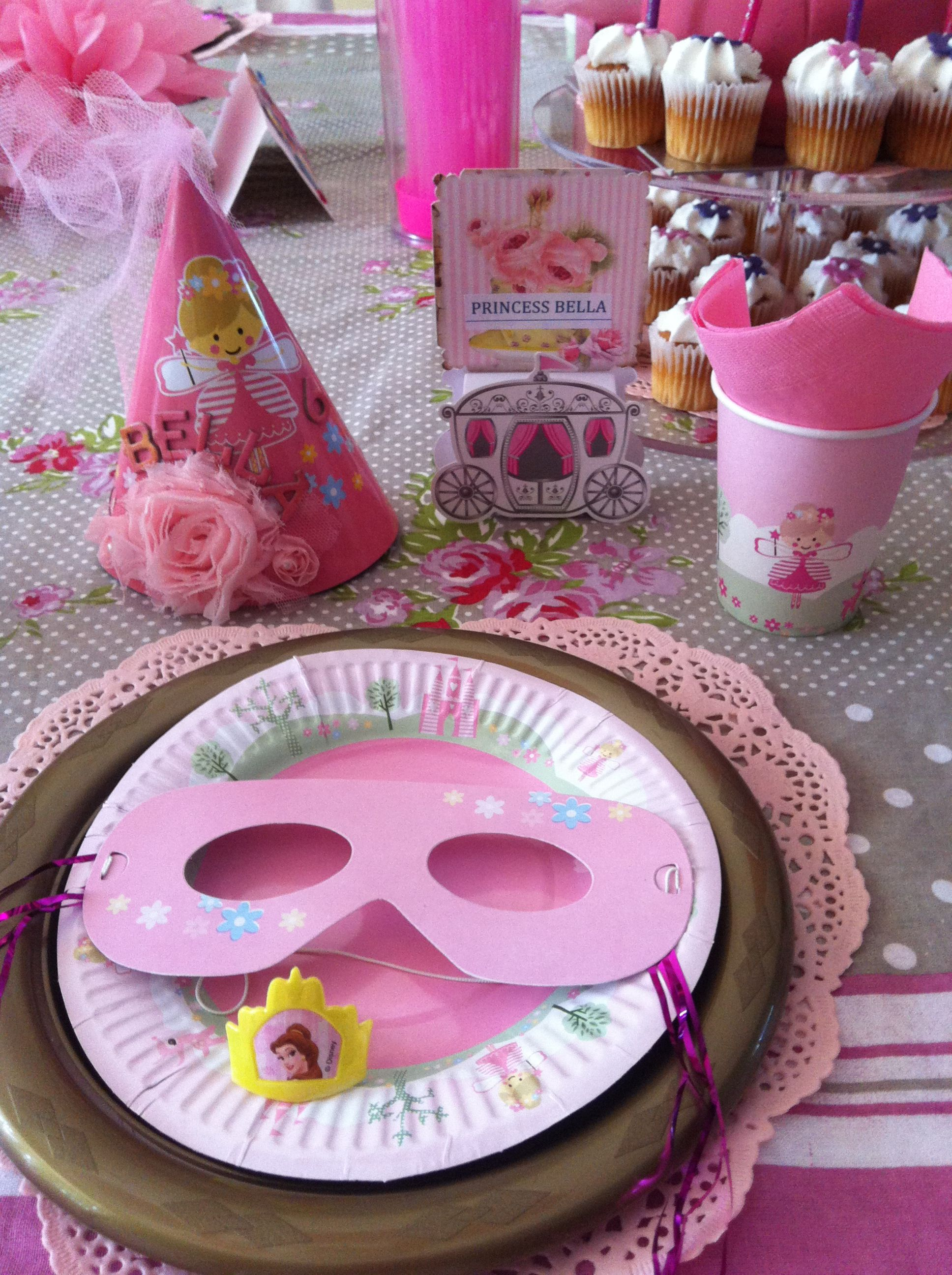 Princess Birthday Party. Princess table setting. See my board for ...