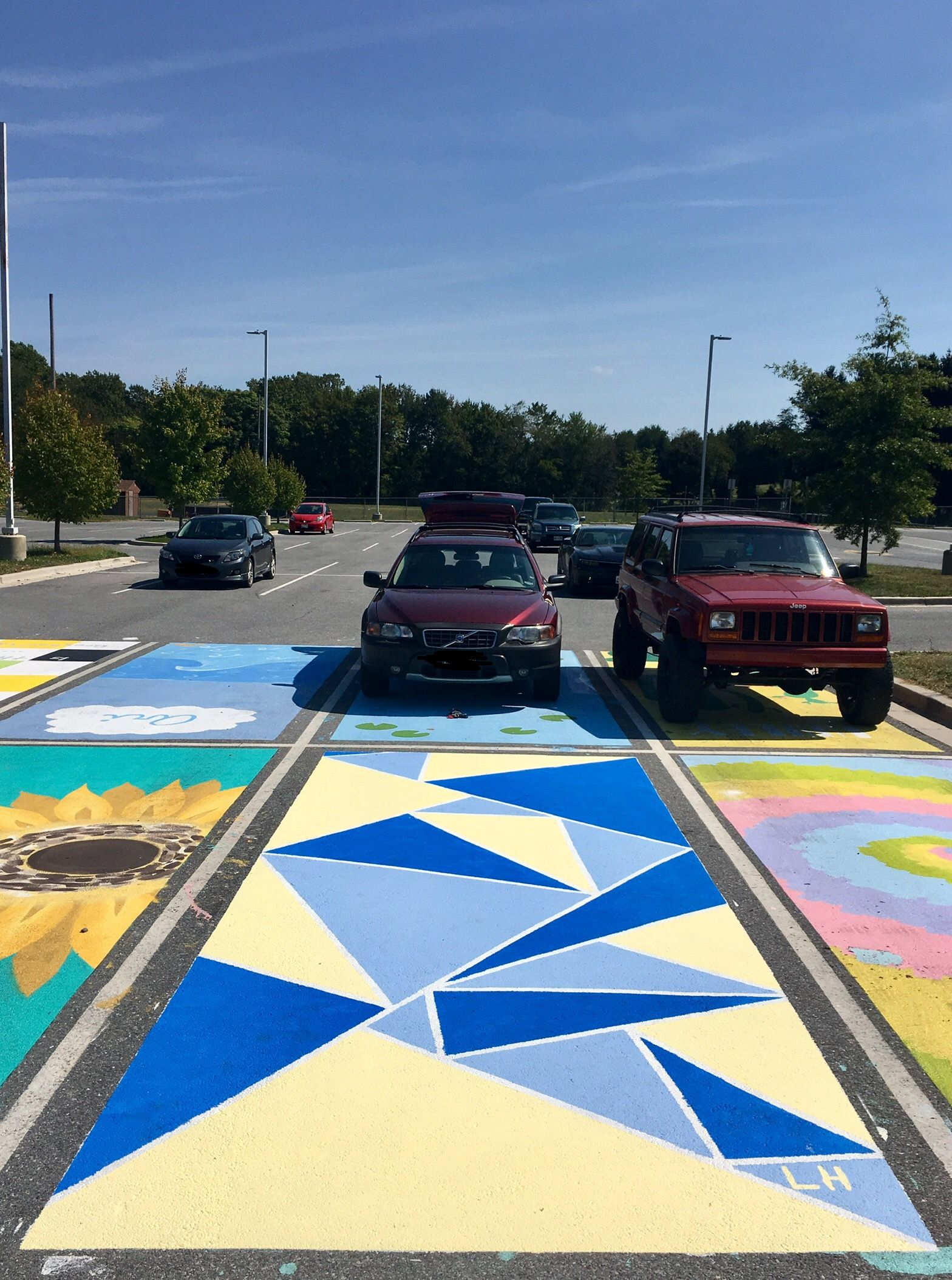 #senior #seniorparkingspot #parkingspot #paintedparkingspot #paint