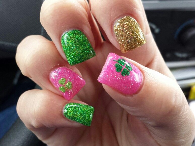 St. Patty\'s gel nails   Nails   Pinterest   Saints, Makeup and Irish ...