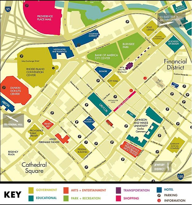 Downtown Providence, Rhode Island | New England Maps | Pinterest ...