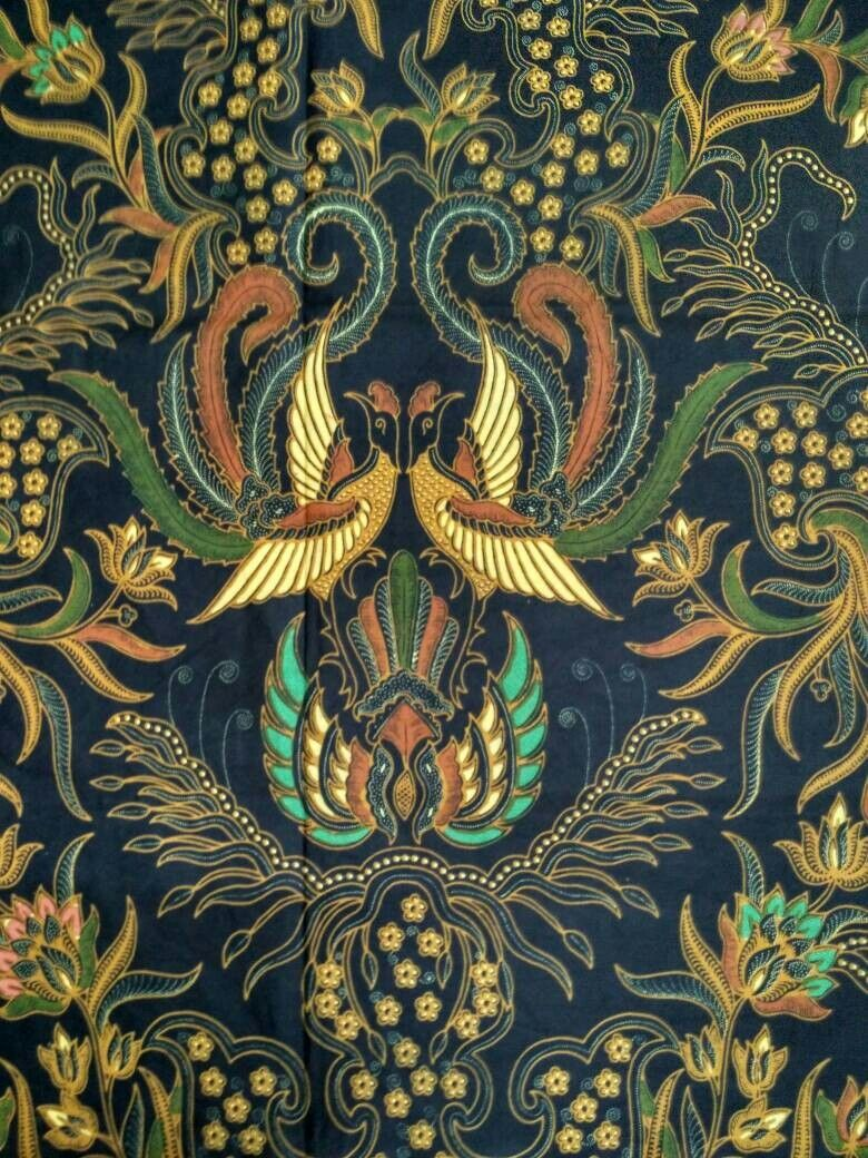 Motif Batik Fauna : motif, batik, fauna, Batik, Merak, Kembar, Gambar, Flora, Fauna,, Tradisional,