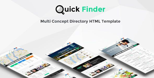 QuickFinder - Directory \ Listings Template (Multi-Industry - resume finder