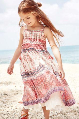 Pink Paisley Maxi Dress | Next | Girls Dresses | Pinterest