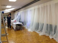 For Weddings This Wall Is Being Covered In Cloth It A