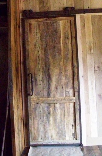 Reclaimed Skip Planed Oak Trolley Barn Door Reclaimedlumber