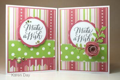 Karen's Creations: Quick Birthday cards