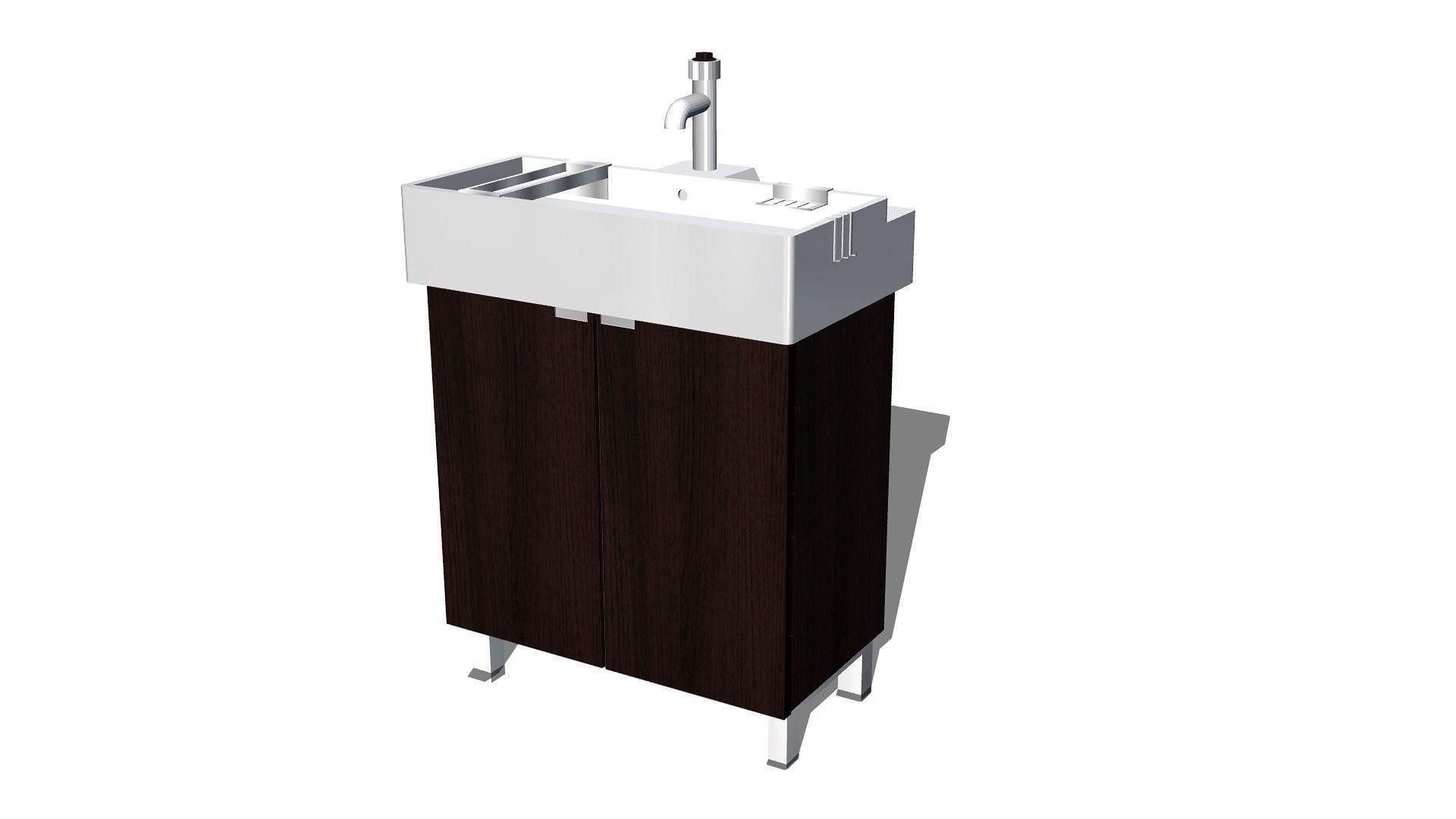Maya Lillangen Sink Cabinet Ikea Bathroom - 3D Model | 3D-Modeling ...