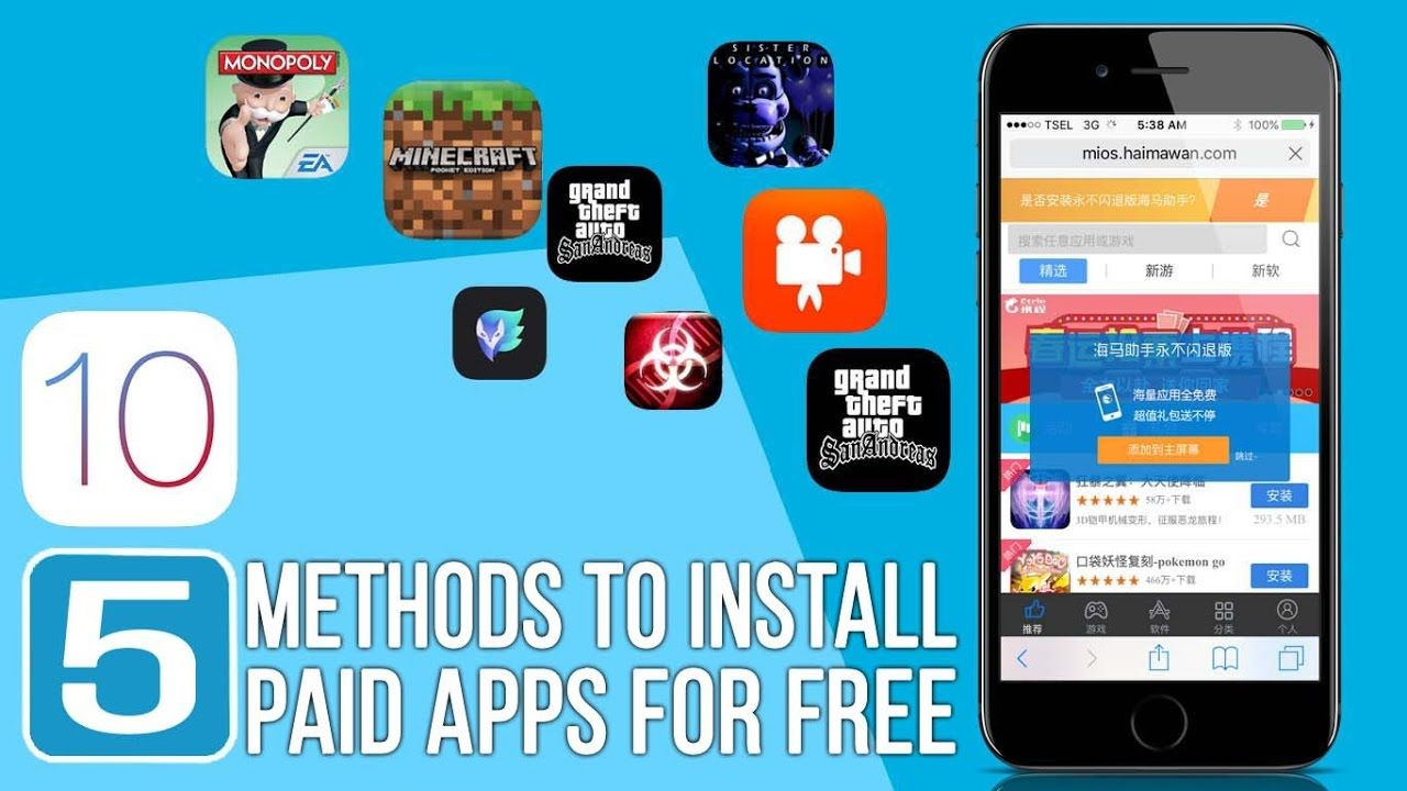 5 Best Methods 2017 To Install Paid Apps For Free iOS 10.2