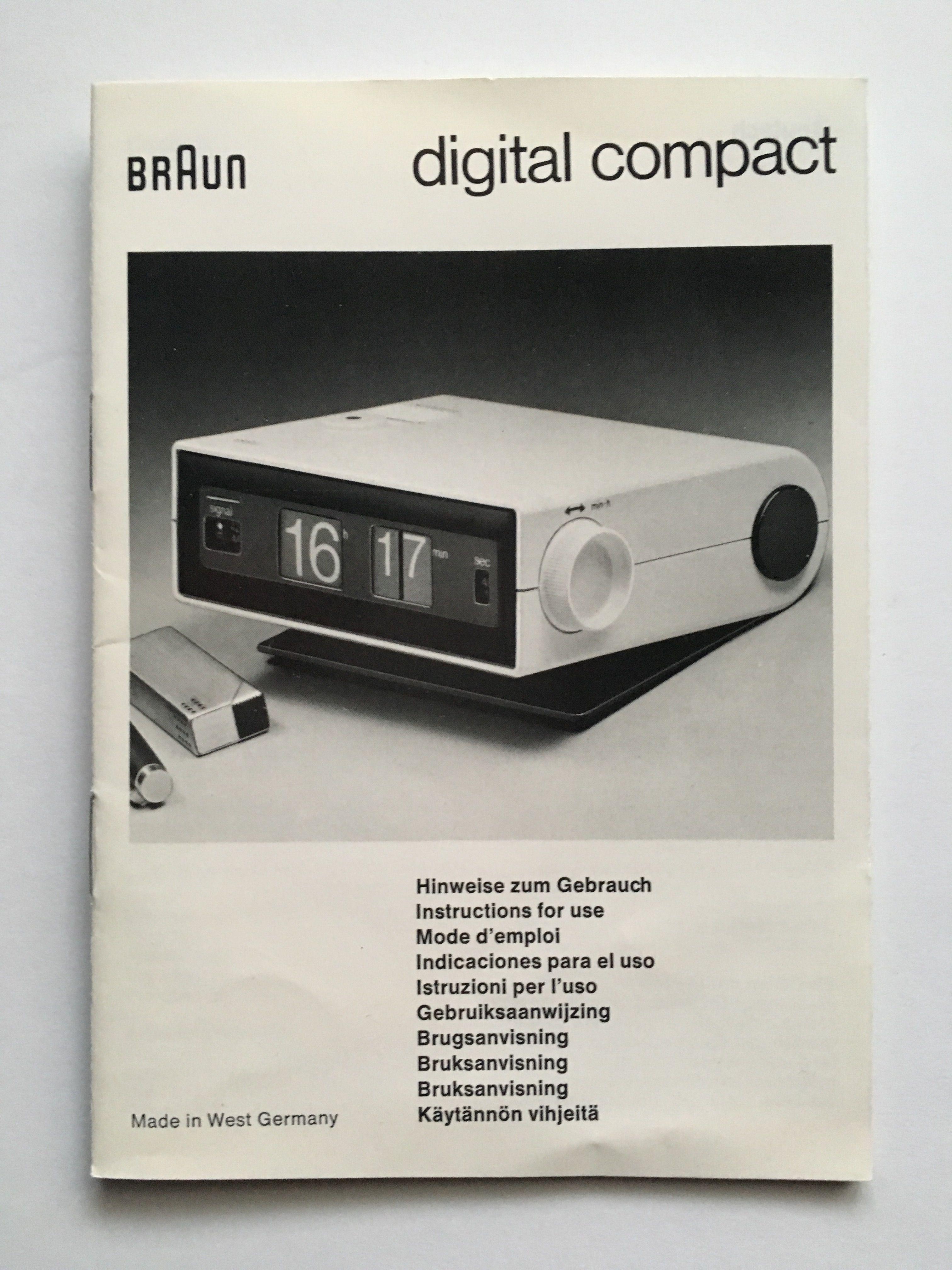 Braun digital compact manual | typ 4937 rollzahlenwecker ...