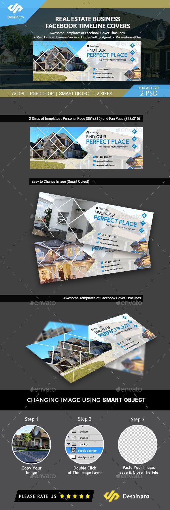 real estate fb cover timeline template psd ar facebook timeline