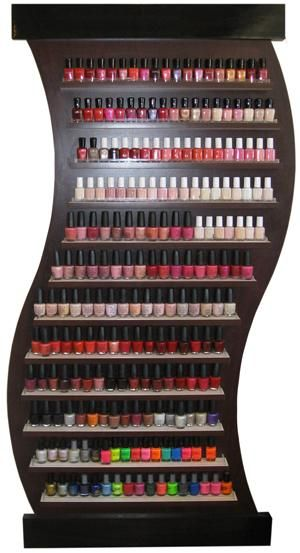 Looking for nail polish organization ideas? Below are some seriously cool options! Below the pictures are the links to purchase/read reviews. I LOVE this apple design! Awesome if you don't want a w...
