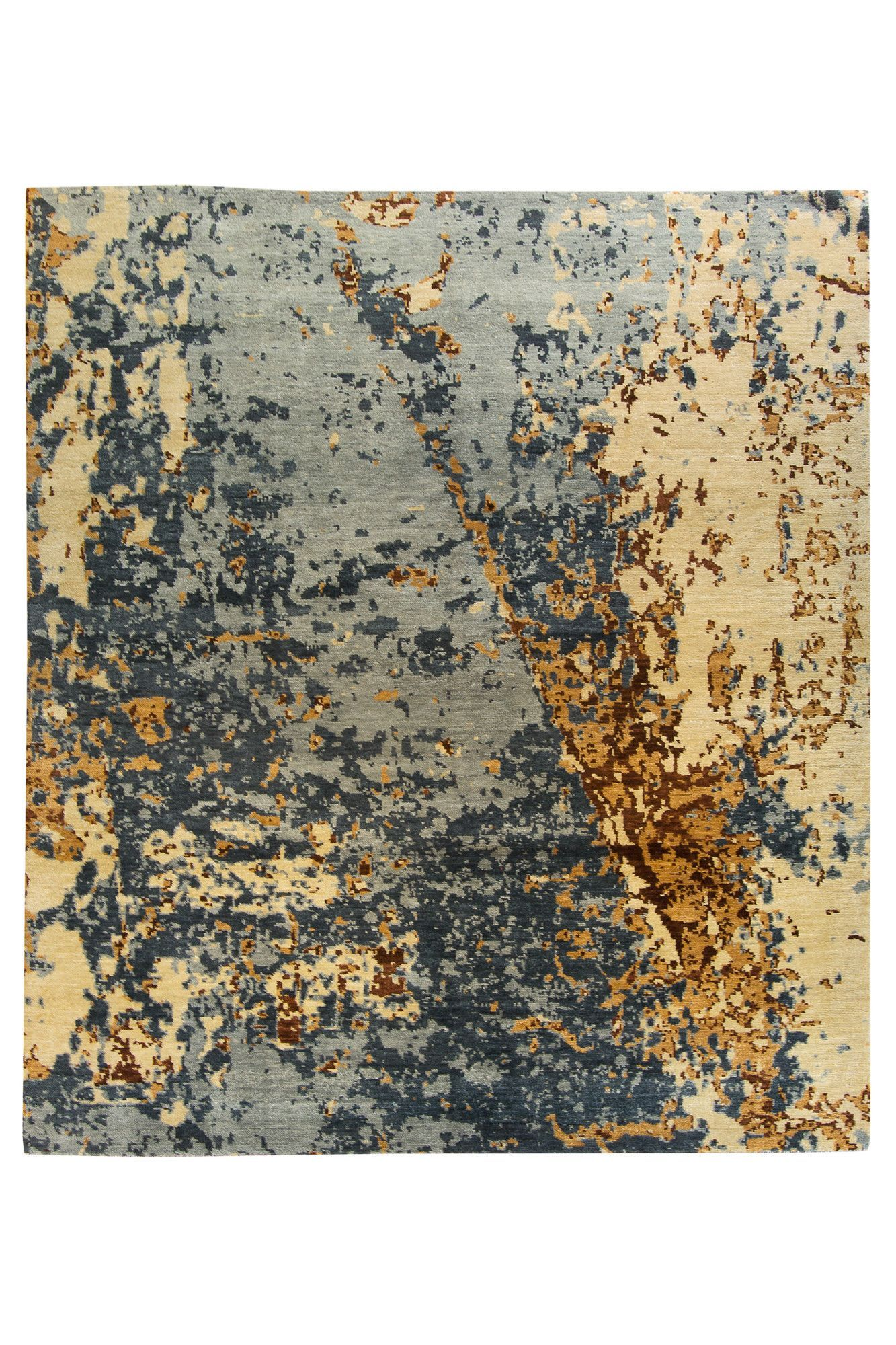 Abstract Blue Tan Rug 8x10 With Images Tan Rug Rugs