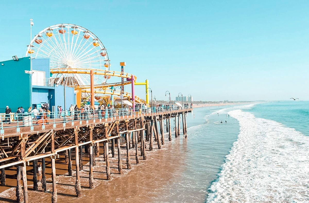 Checking Out Santa Monica And Venice Beach In Los Angeles Backpackers Wanderlust Venice Beach California Visit Santa Monica California Travel