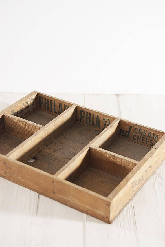 This vintage wood tray is the perfect vintage accent to add to your ...