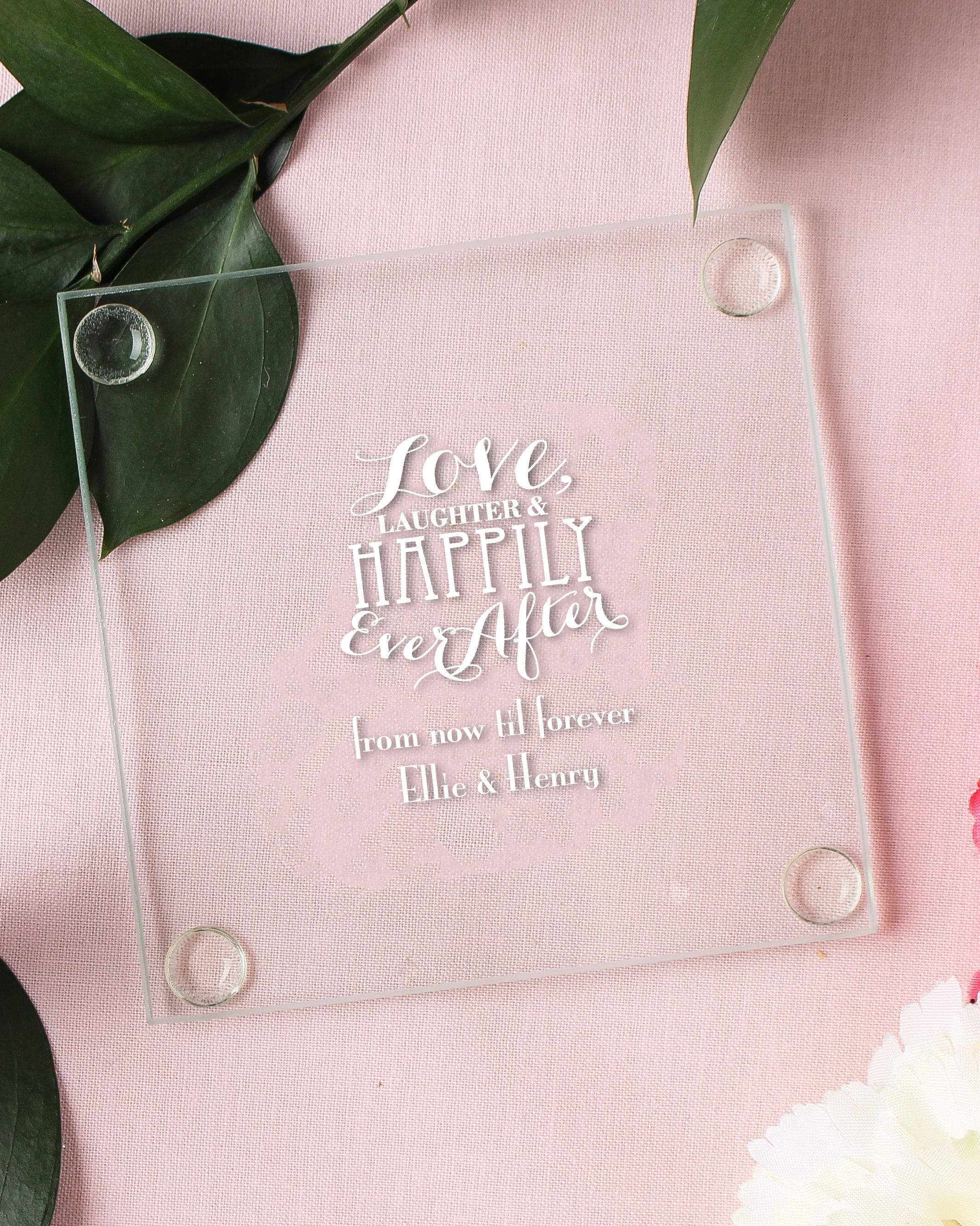 Make Your Wedding An Affair To Remember With These Personalized Gl Coasters Use Them As Part Of Table Setting And Send Home Favors
