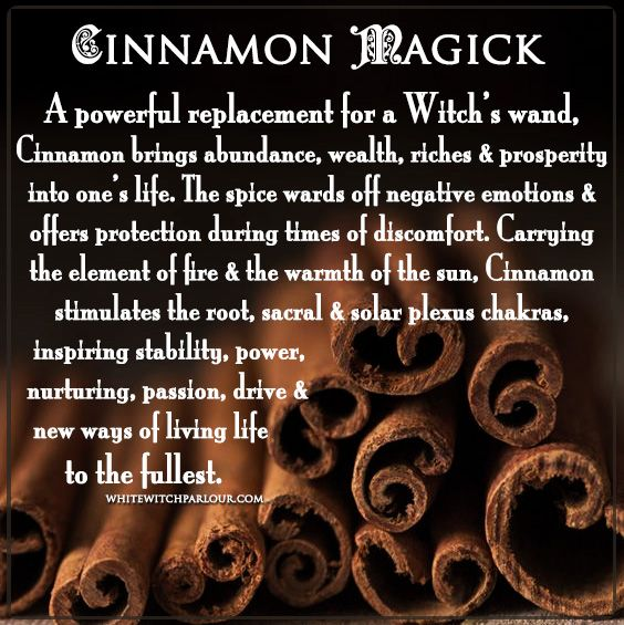 cinnamon, witch, herbs, magick, correspondences, metaphysical