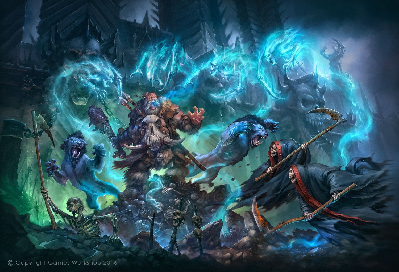 Icetooth vs Nighthaunt (Beastclaw Ogors), Jaime Martinez on ArtStation at https://www.artstation.com/artwork/w9O5X