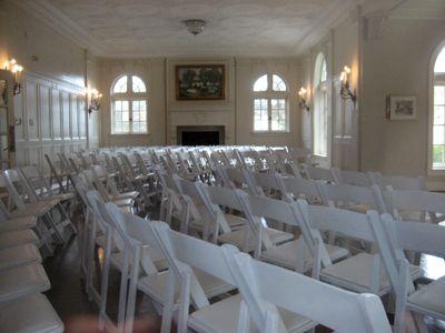 The South Room Of The Tulsa Garden Center Set Up For A Wedding