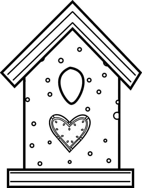 Bird House Made From Cookies Coloring Pages 600x795 Jpg 600 795 Bird Coloring Pages Coloring Pages Bird Drawings
