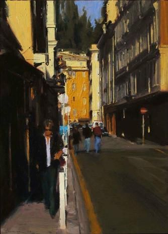 Ben Aronson. Afternoon Light, South of France 2012 oil on panel 26 x 18 3/4 inches