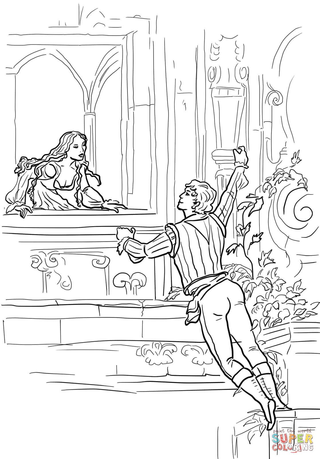 Romeo And Juliet Drawing Easy : romeo, juliet, drawing, Romeo, Juliet, Balcony, Scene, Drawing, Tutorial