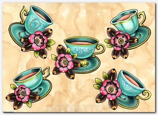 Bae | Flash Tattoo | Cup tattoo, Teacup tattoo, Coffee tattoos