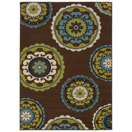 I pinned this Caspian Suzani Indoor/Outdoor Rug in Brown from the Sphinx by Oriental Weavers event at Joss and Main!