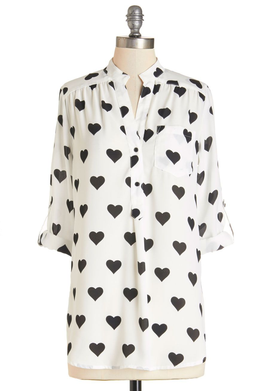 acea00034dc Love Ballad Tunic in White. Show how fun it is to experience that  fluttering feeling by wearing this sheer white tunic