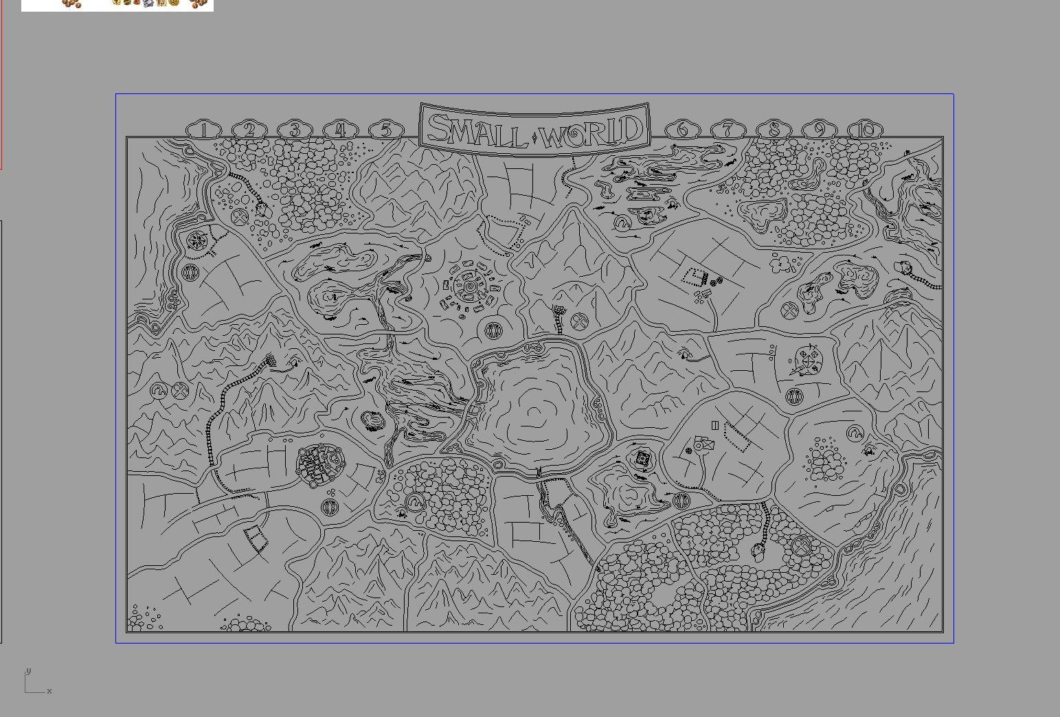Small World Game Board - CAD