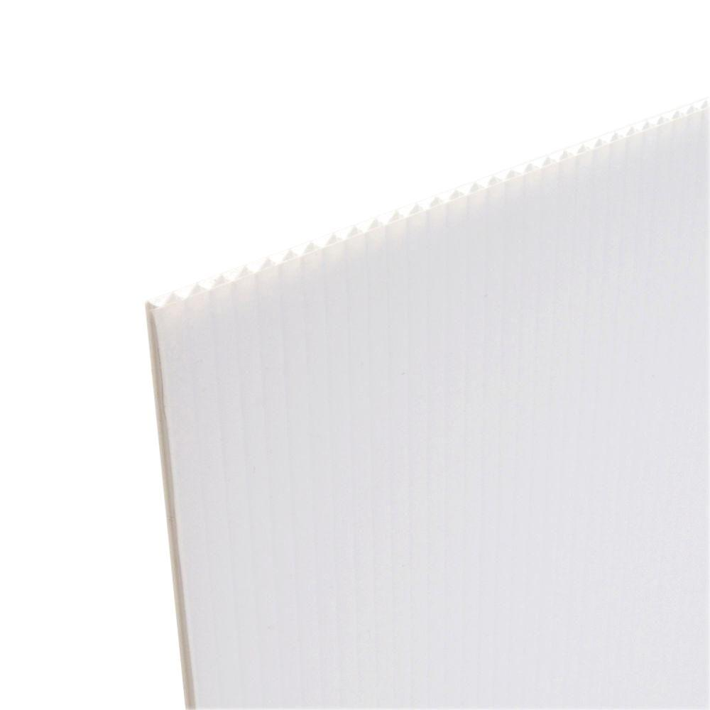 Coroplast 48 In X 96 In X 157 In White Corrugated Plastic Cardboard 10 Pack Wc4896 10 The Home Depot Corrugated Plastic Sheets Corrugated Plastic Corrugated Cardboard
