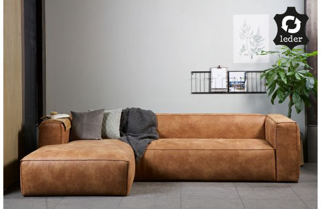 Bean Corner Sofa Left Cognac Sofas Armchairs Living Woood Leather Corner Sofa Bean Sofa Corner Sofa Set