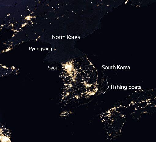 Korea at Night MAPS Pinterest Korea - best of world map at night korean