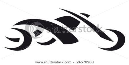 Motorcycle Tattoo Style Stock Vector 24578263 Shutterstock Motorcycle Tattoos Bike Tattoos Tribal Tattoos