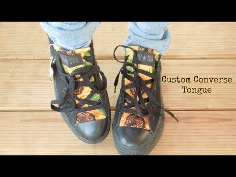 ecbb2e9ba530 How To  Custom Converse Shoe Tongue! - YouTube