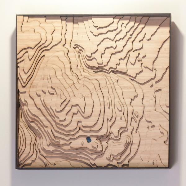Kimberley British Columbia  Topographic map Laser cutting and