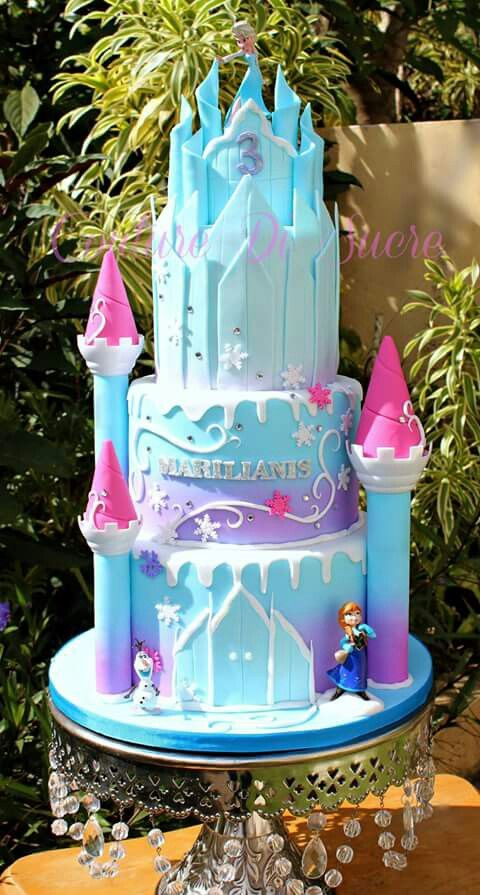 Frozen Castle Cake Princess Birthday Cake Disney
