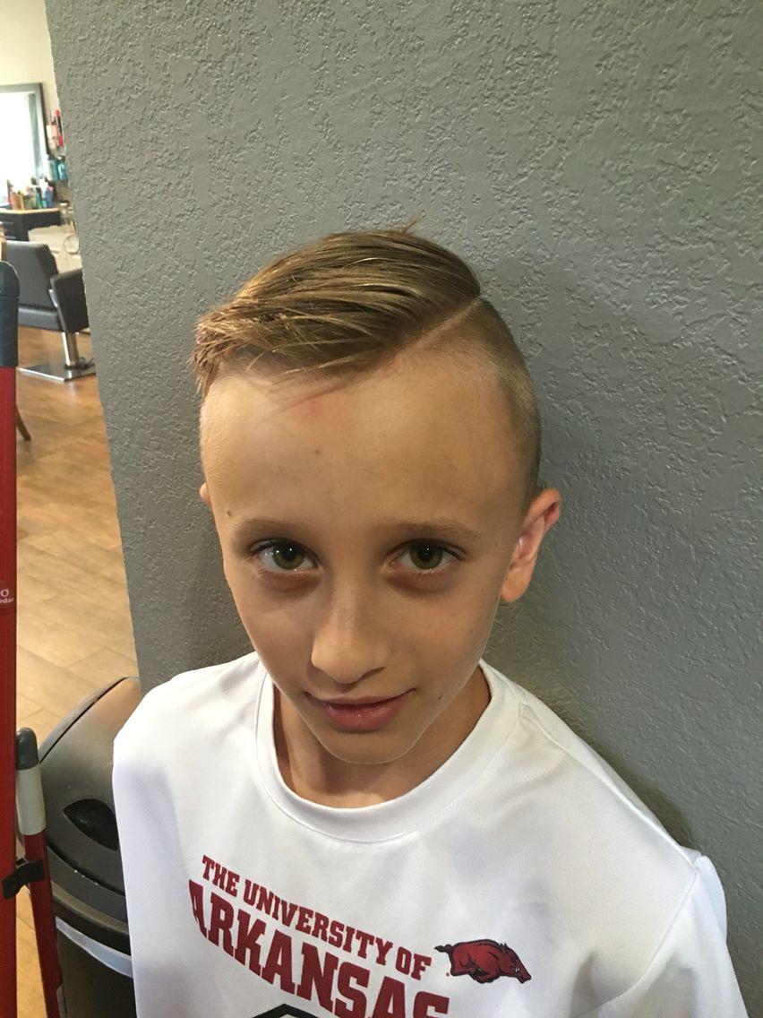 Boy Haircutshaved Line Boy Haircut Hair I Did Pinterest