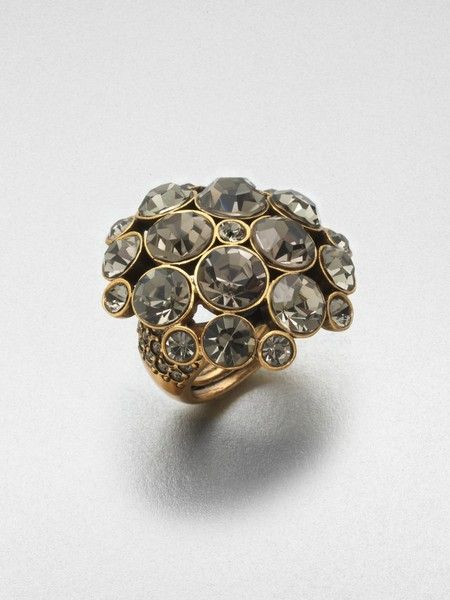 Pavé Stone Accented Dome Ring