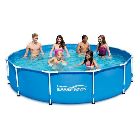 Summer Waves 12 X30 Frame Pool Blue 12 Feet In 2020 Summer Waves Swimming Pools Above Ground Swimming Pools
