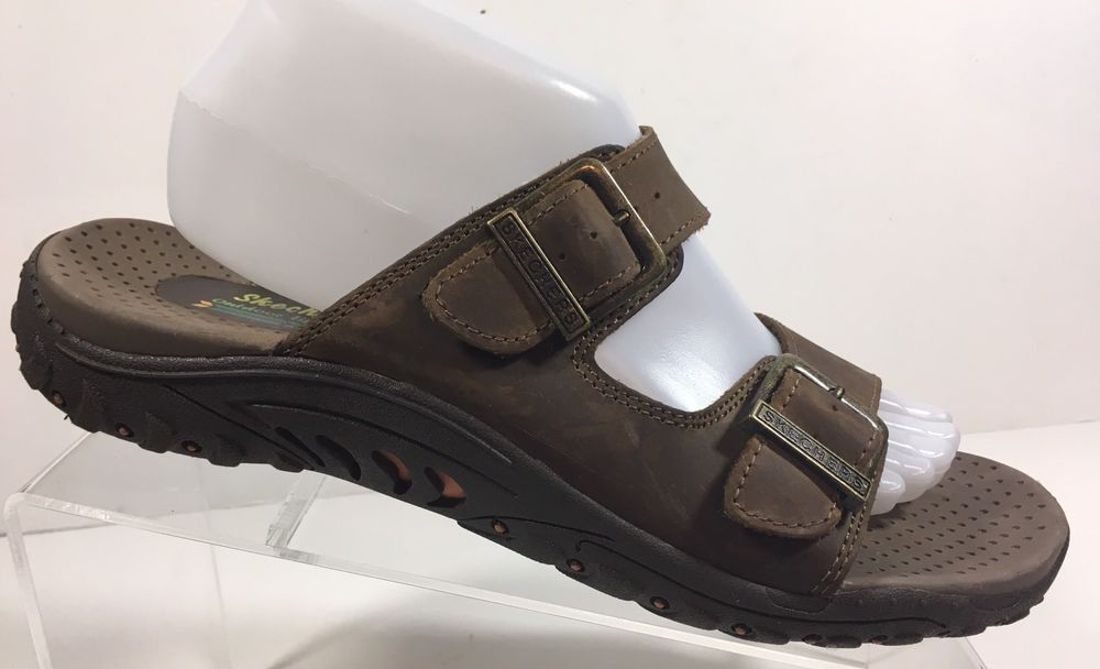 313d035fa98 Women s Skechers Outdoor Lifestyle Brown Leather Buckle Sandal 9 M  Skechers   Sandals