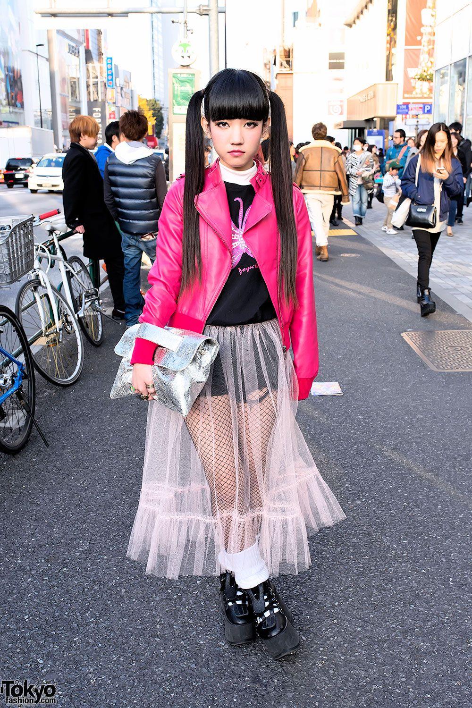 19 year old rinyo on the street in harajuku w cute twin