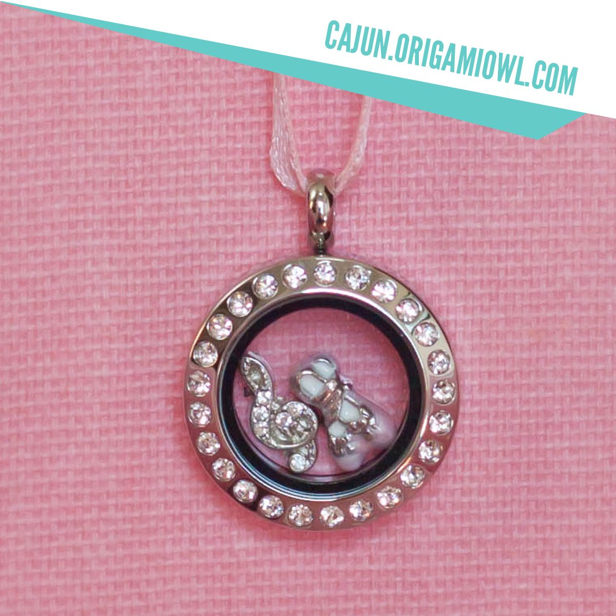 Origami owl dance locket mini silver crystal locket with treble origami owl dance locket mini silver crystal locket with treble clef and ballet slipper charms jeuxipadfo Image collections