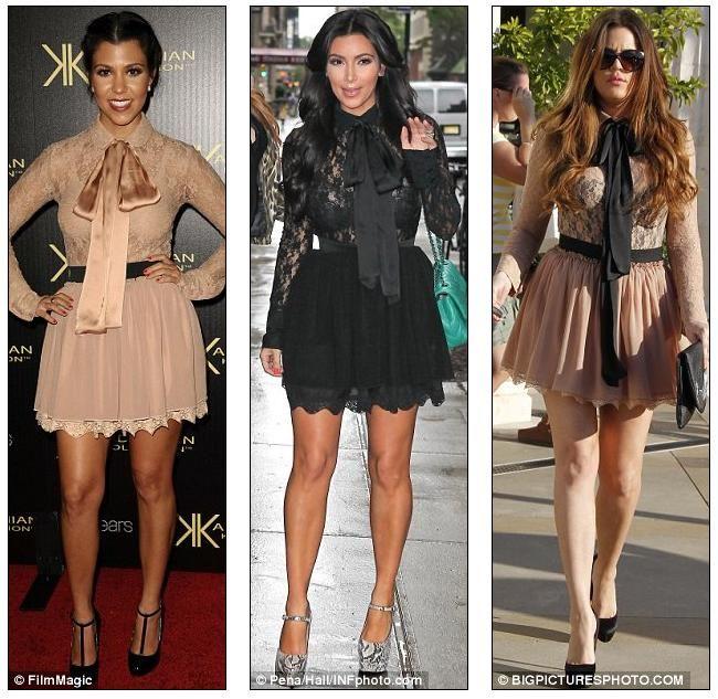 Trio Kardashian looks parecidos