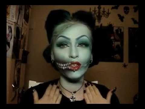 Pin up girl zombie makeup