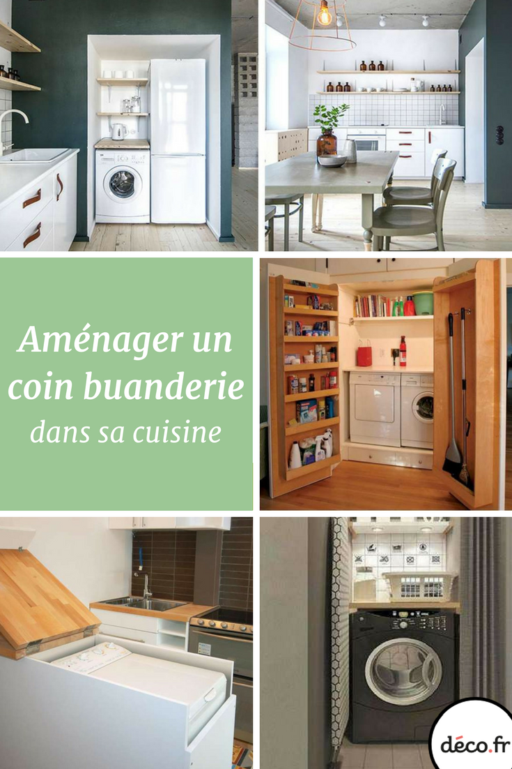 comment am nager un coin buanderie dans une cuisine buanderie pinterest deco fr diaporama. Black Bedroom Furniture Sets. Home Design Ideas