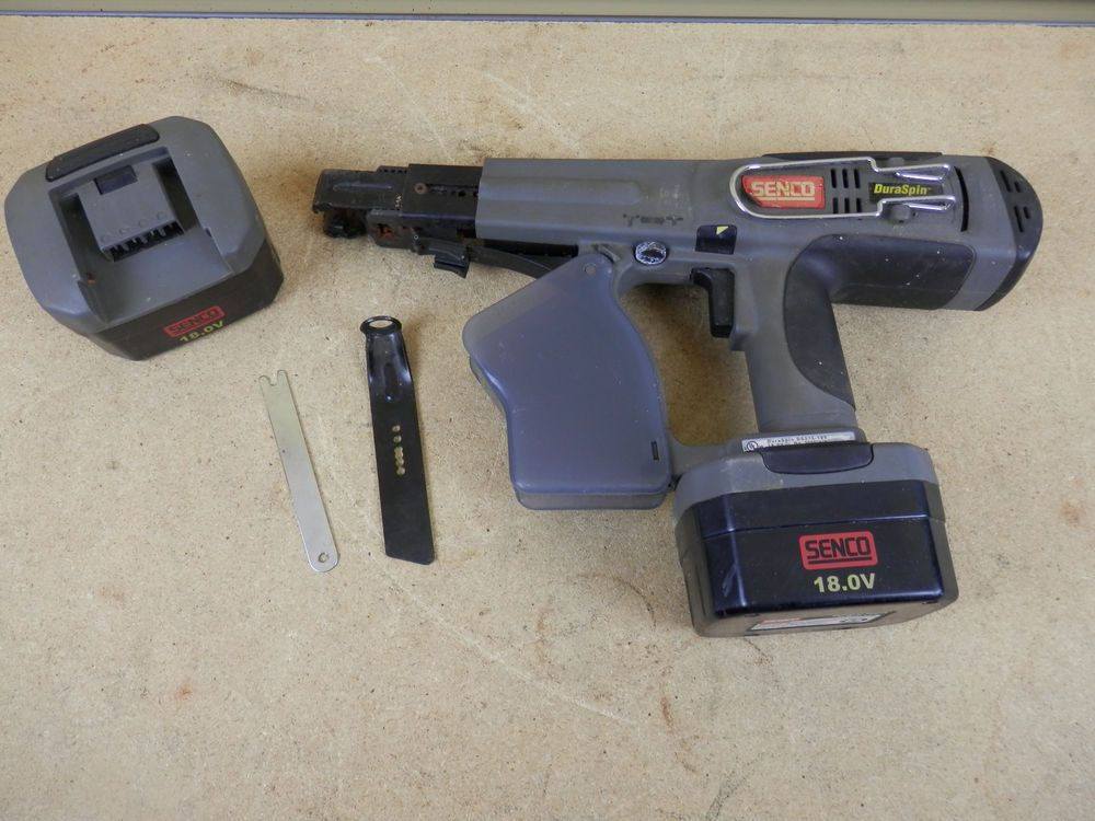 senco duraspin ds275 18v cordless collated screwdriver battery rh pinterest com