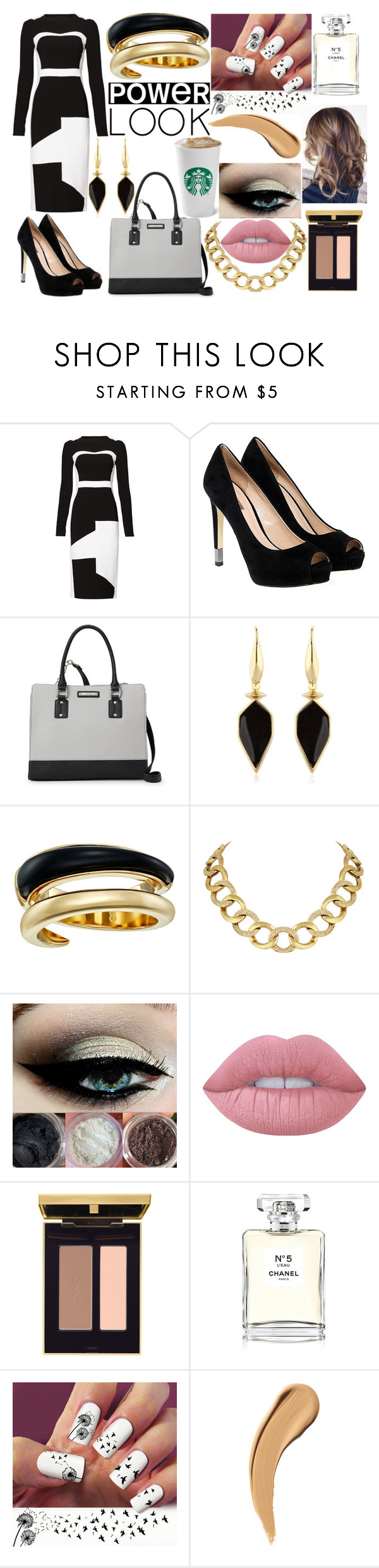 """""""Getting ready for a meeting"""" by briannacutie498 ❤ liked on Polyvore featuring Antonio Berardi, GUESS, Nine West, Isabel Marant, Michael Kors, House of Harlow 1960, Lime Crime and Chanel"""