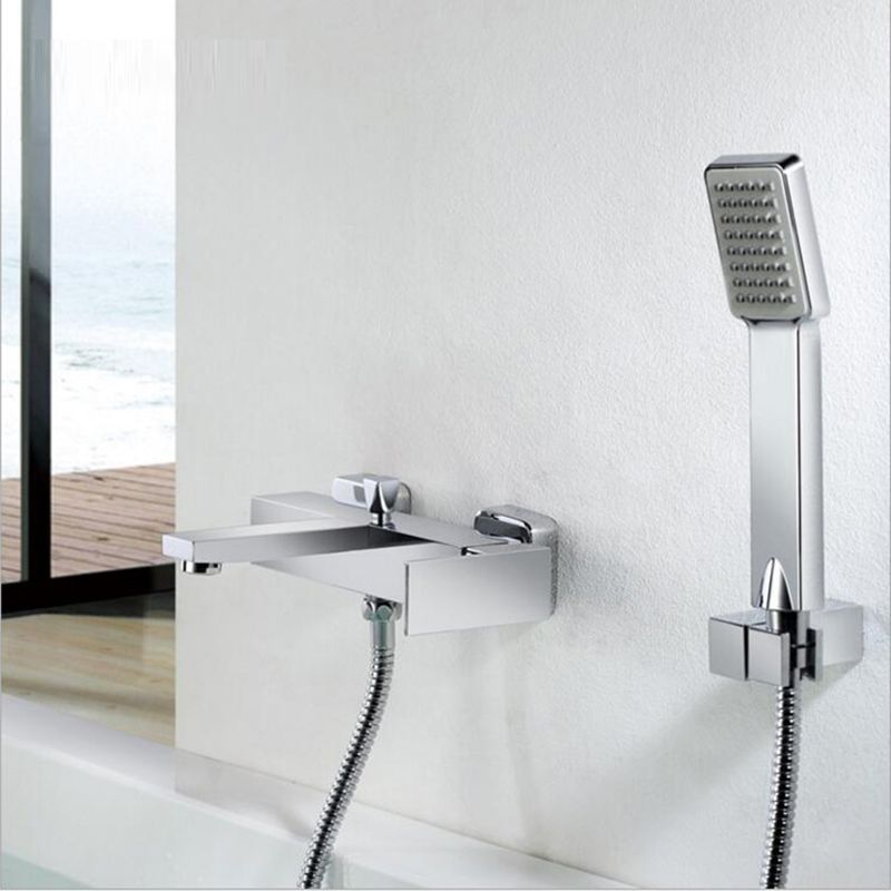 Bath Mixer Hot Cold Water Mixer Valve Bathroom Shower Set Tub